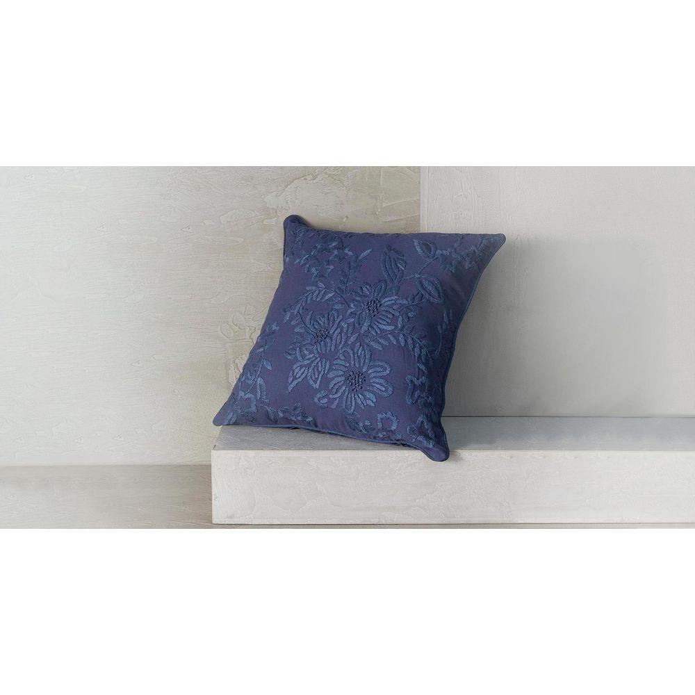Capa De Almofada Madri Cor: Azul Marinho - Tamanho: Único