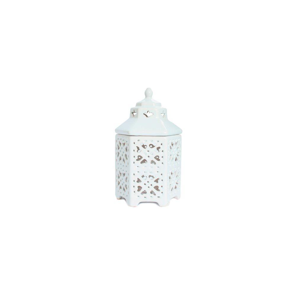 Luminária Porta Vela Pagoda Cor: Branco - Tamanho: Único