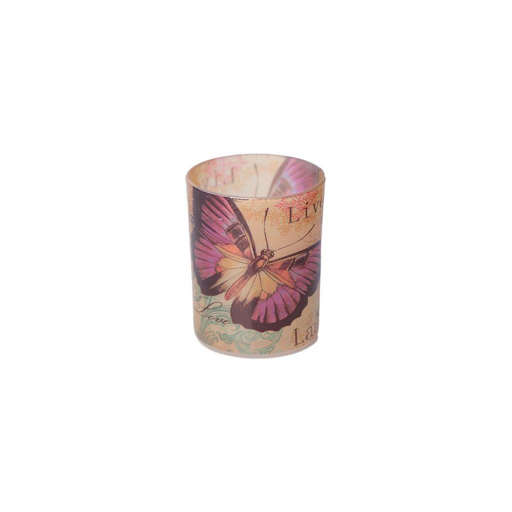 Luminária Porta Vela Jardim Cor: Rosê - Tamanho: Único