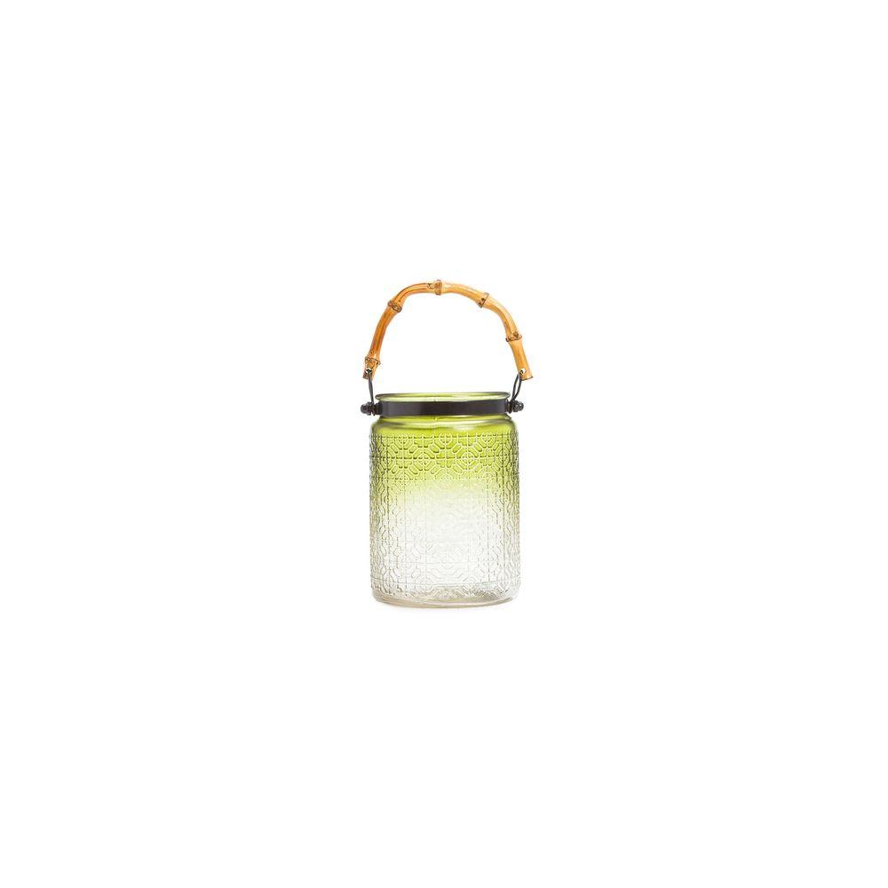 Luminária Porta Vela Bamboo Cor: Verde - Tamanho: Único