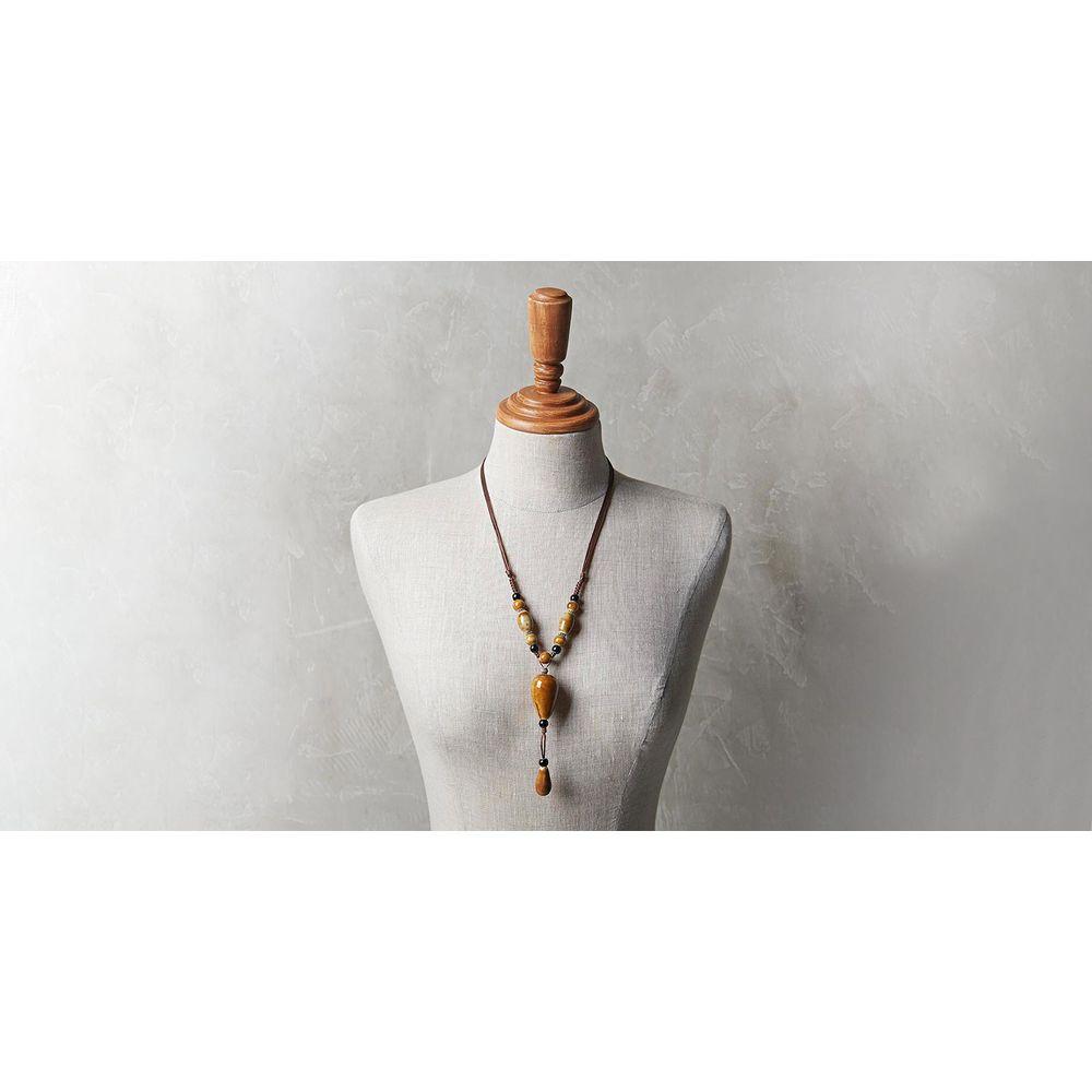 Colar Rosaria Cor: Marrom - Tamanho: Único