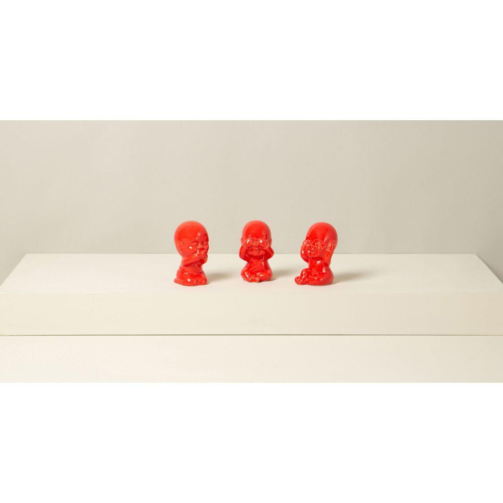 Conjunto Decorativo Buddha Cor: Vermelho - Tamanho: Único