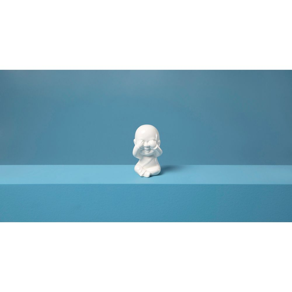 Decorativo Buddha Tang Cor: Branco - Tamanho: Único