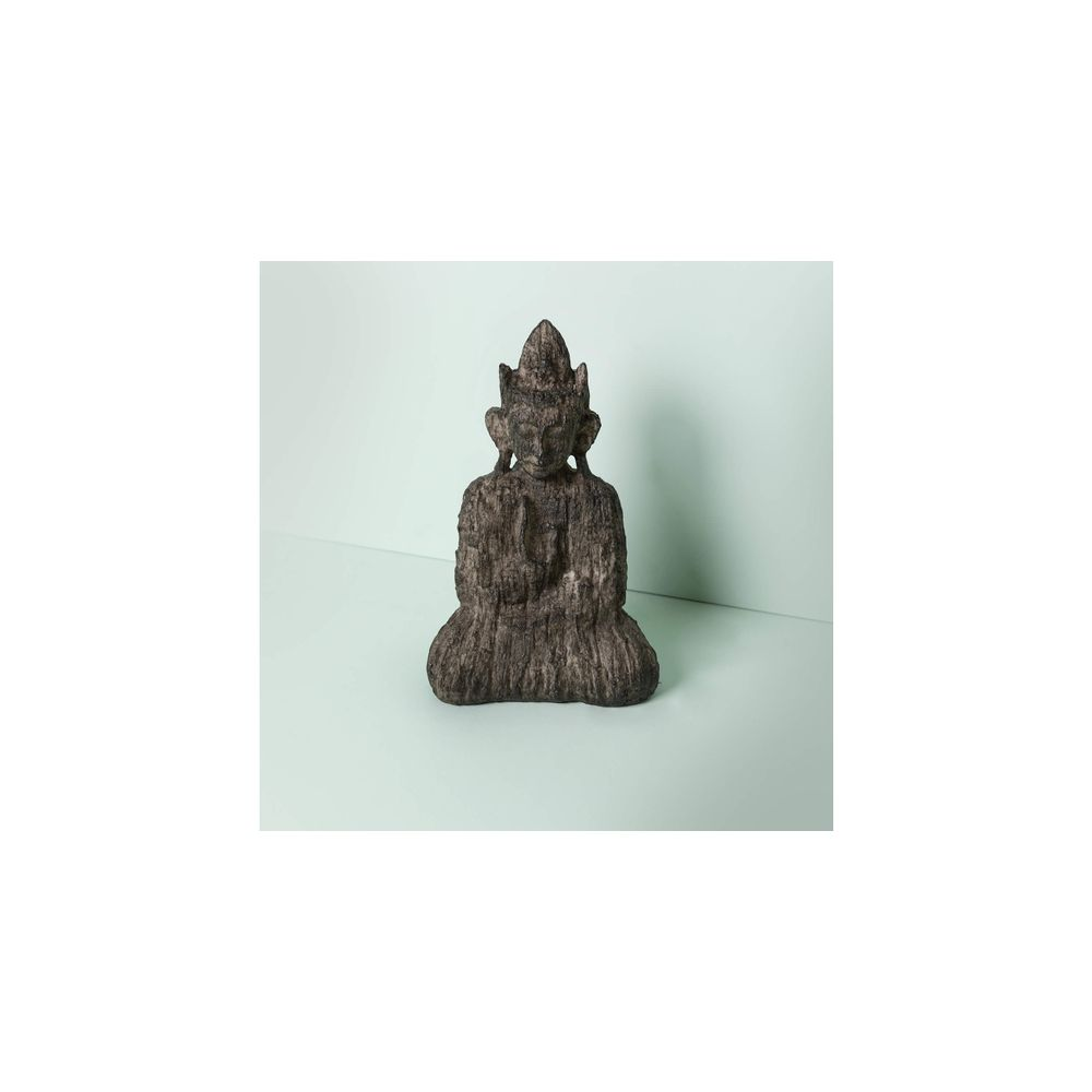 Decorativo Buddha Shila Cor: Cinza - Tamanho: Único