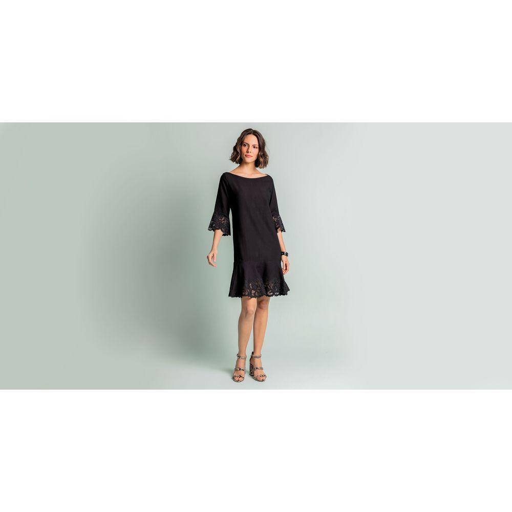 Vestido Carolina Cor: Preto - Tamanho: 1
