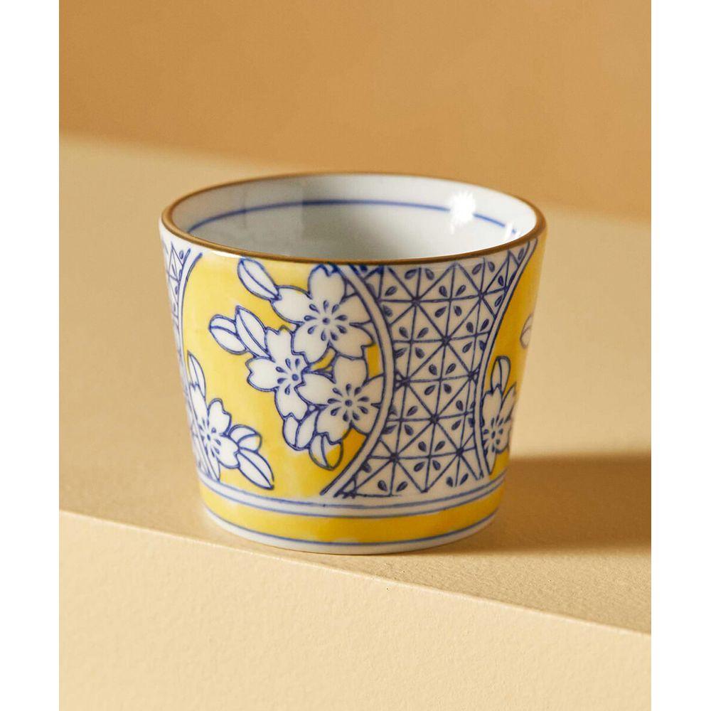 Bowl Dadu: Vaso De Porcelana Pintado À Mão Cor: Amarelo - Tamanho: Único