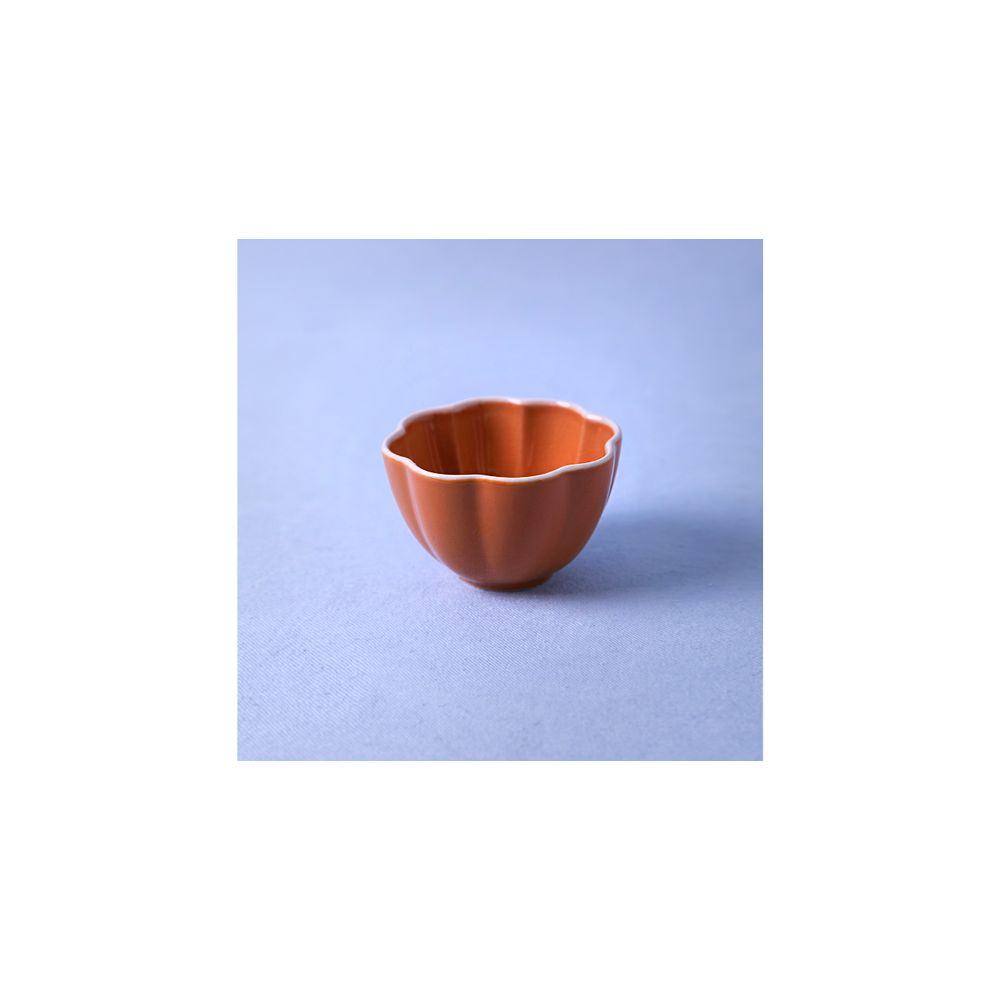 Vaso De Cerâmica Cor: Laranja - Tamanho: Único