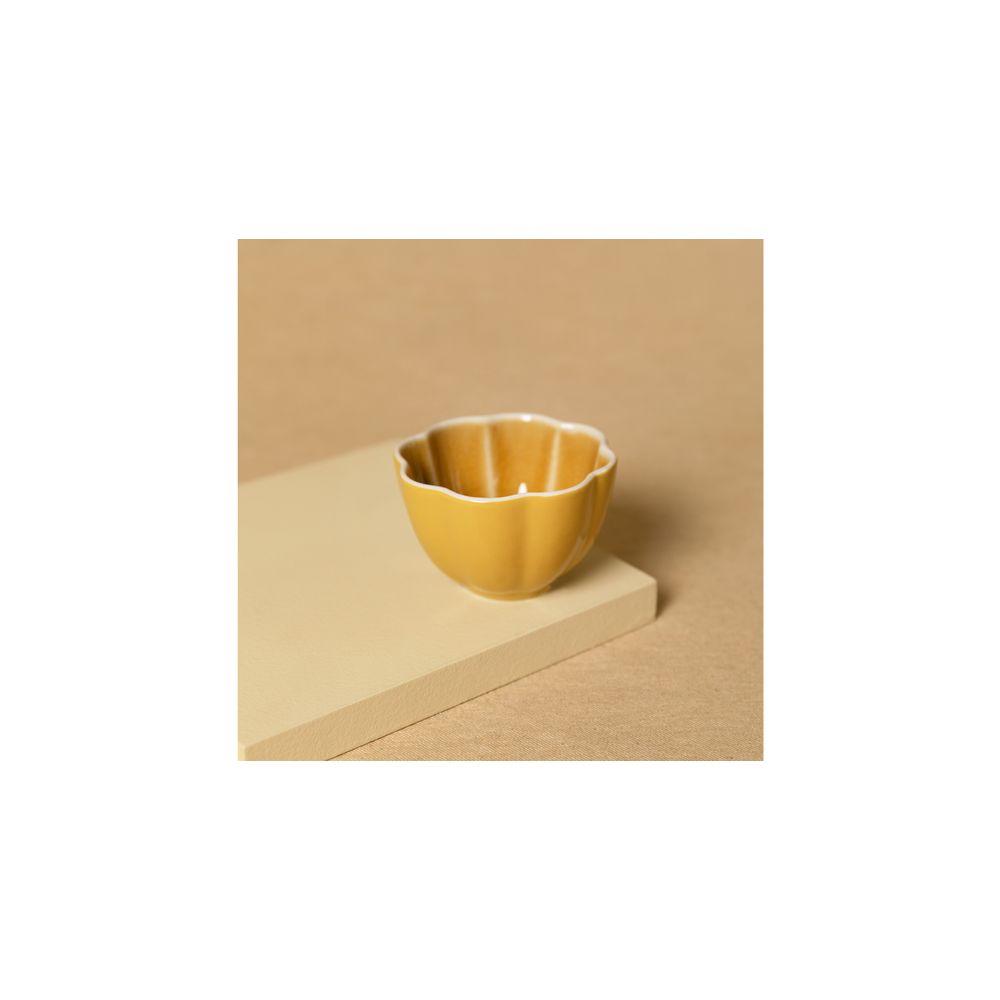 Vaso De Cerâmica Cor: Amarelo - Tamanho: Único