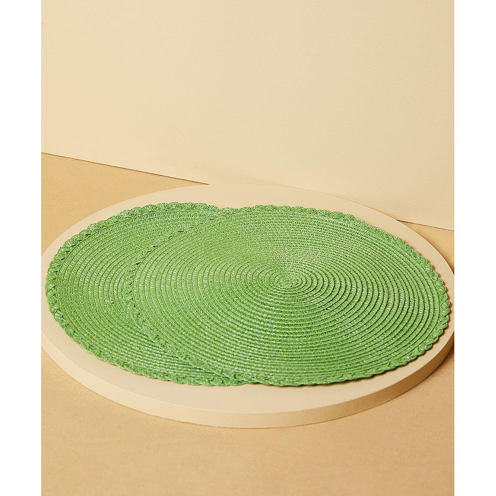 JOGO AMERICANO ASTON REDONDO Cor: Verde - Tamanho: Único