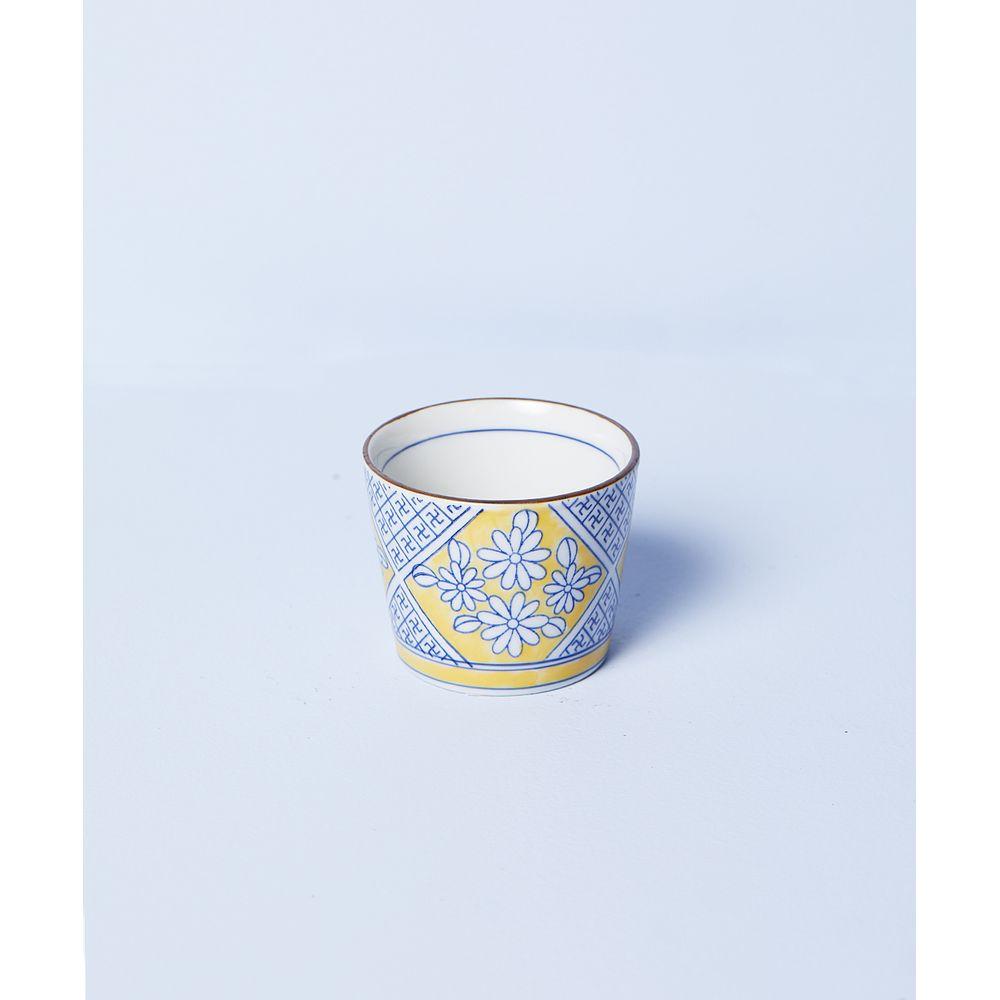 Bowl Min: Vaso De Porcelana Pintado À Mão Cor: Amarelo - Tamanho: Único