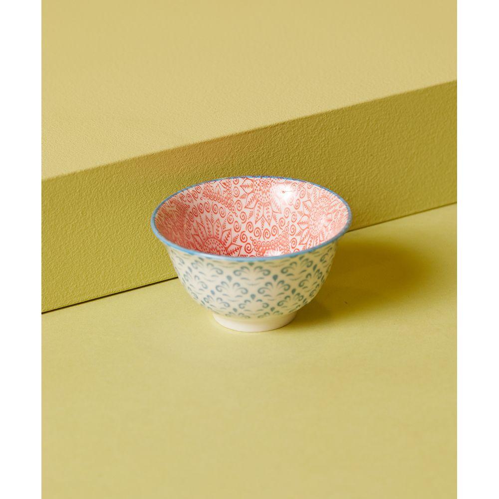 Bowl Decorativo Essen: Decorativo De Porcelana Estampada Cor: Vermelho - Tamanho: Único