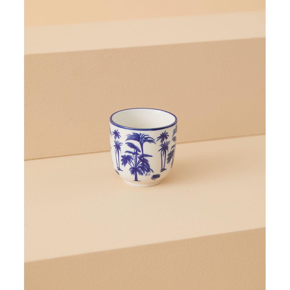 Vaso De Cerâmica Ila Cor: Azul - Tamanho: Único