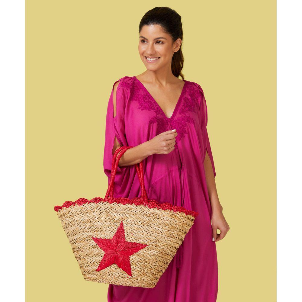 Bolsa De Praia - Bolsa Star Cor: Rosa - Tamanho: Único