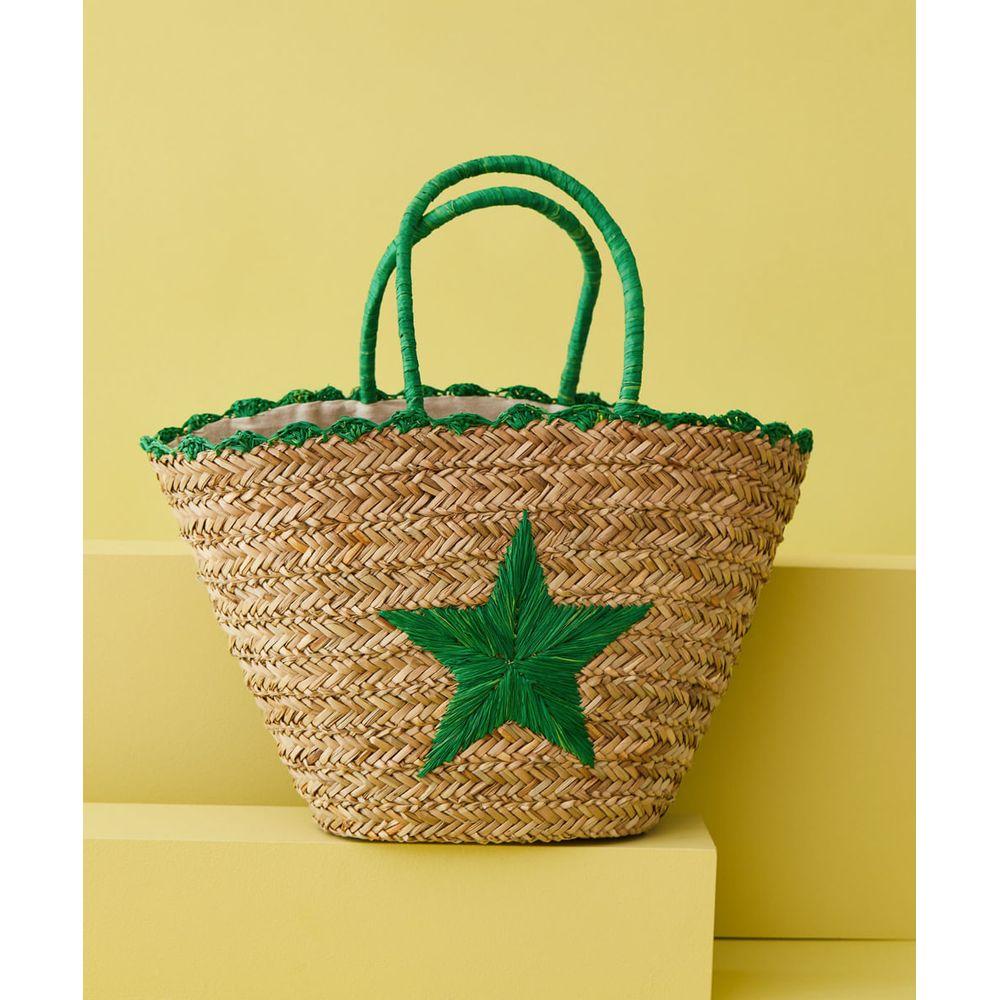 Bolsa De Praia - Bolsa Star Cor: Verde - Tamanho: Único