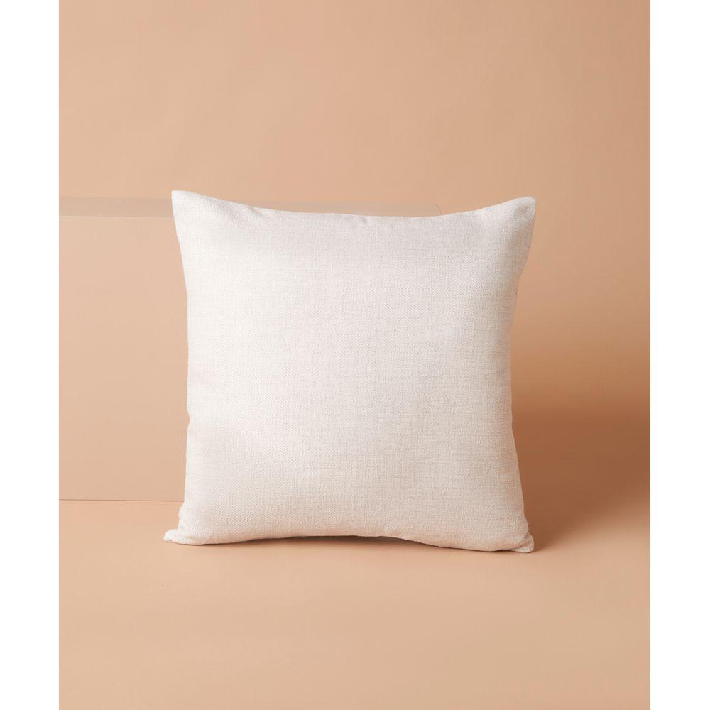 Capa De Almofada Rideau 45X45 Cor: Branco - Tamanho: Único